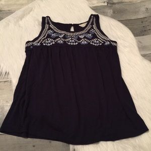 Adiva Navy tank top size medium